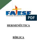 Introdução a Hermenêutica Bíblica