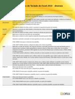 Teclas de ATalho Excel 2010 - Diversos