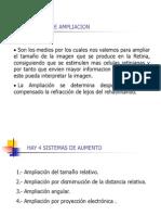 Sistemas de Ampliacion y Ayudas Opticas