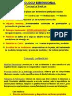 (1) Metrología Dimensional