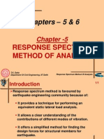 Response Spectrum Method of Analysis