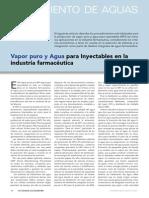 Article Vapor Puro y Agua Para Inyectables en La Industria Farmaceacuteutica Www.farmaindustrial.com
