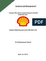 Financial Analysis Shell Pakistan
