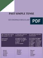 Past Simple Tense Ed Endings
