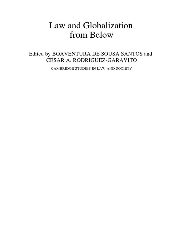 Boaventura de souza santos law and globalization from below boaventura de souza santos law and globalization from below governance globalization fandeluxe Choice Image