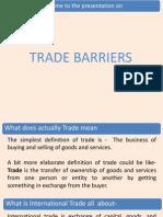 Trade Barriers- Economics
