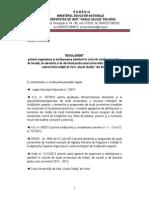 Regulamentul de Admitere 2013