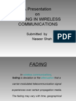 A Presentation on Fading in Wireless Communications