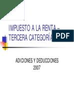 Analisis de Las Deducciones y Adiciones de La Ley Del Impuesto a La Renta Para Emp