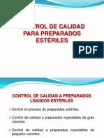 08-CONTROL DE CALIDAD PARA PREPARADOS ESTERILES.ppt