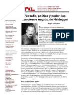 Filosofía, Política y Poder- Los Cuadernos Negros, De Heidegger