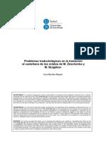 Aproximación Pragmática a La Traducción de La Ironía - Problemas Traductológicos en La Traslación Al Castellano de Los Relatos de M. Zóschenko y M. Bulgákov