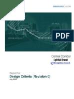 Central Corridor Design Criteria