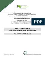 Relazione Generale Opere Di Mitigazione Ambientale