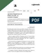 La Jornada- Aprueba El Senado Leyes de Pemex y La CFE; Se Consumó El Despojo