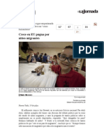 La Jornada- Crece en EU Pugna Por Niños Migrantes