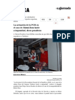 La Jornada- La Actuación de La PGR en El Caso de Mamá Rosa Huele a Impunidad, Dicen Penalistas