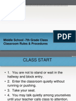educ 250- 7th grade rules and procedures