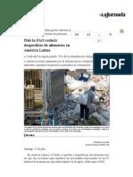 La Jornada- Pide La FAO Reducir Desperdicio de Alimentos en América Latina