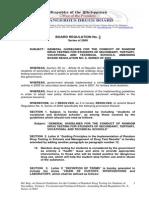 Philippine Dangerous Drug Board Regulation No. 3 (circa 2009)