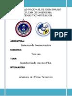 Informe de La Colocacion de Las Antenas
