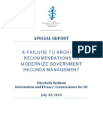 Special Report Failure to Archive (22july2014) Final