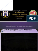 Anderlecht Youth System Presentation