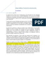 Teoría de La Estructuración - Para Entender a Anthony Giddens