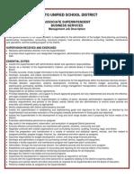 Rialto Unified Associate Superintendent of Business Services job description