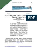 Transferencia y Educacipinmalestar