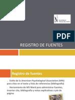 Registro de Fuentes Apa