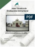 Informe de Evaluacion Estructural de Capilla de Lomo Largo