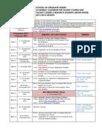 UTM Academic Calender 20132014 Mix