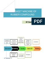 Extrusion of Rubber Compound