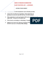 LAWS 20023 Generic Standard Exam - Exam Paper Solution and Marking Grid