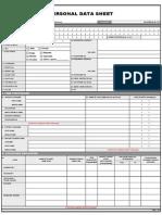 Personal Data Sheet