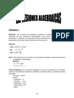 Semana 2 -Expr. Algebraicas