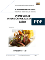 PROYECTO de Inversion Privada de Sabor y Sazon