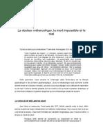 1 La douleur mélancolique, la mort impossible et le réel.pdf