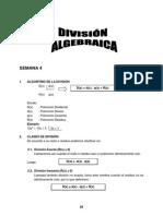 Semana 4 -División Algebraica