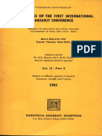 Proceeding of the First International Sanskrit Conference Year 1981 March 26th - 31st 1972 Vol. III . Part II