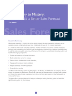 Misery to Mastery Forecating