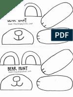 Paper Bag Bear Puppet Parts