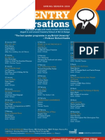 Coventry Conversations Spring 2010 Programme