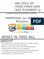 Online Form Selling Propoal for NMIMS