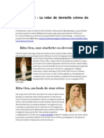 Oscars 2014-La Robe de Dentelle Crème de Rita Ora