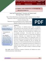 Effect of Antibacterial and Antifungal Activities Of