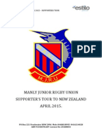 manly supporters itinerary 2015