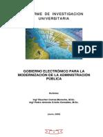 Gobierno Electrónico Para La Modernizacion de La Administración Pública