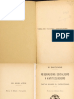 Bakounine Federalismo Socialismo 1